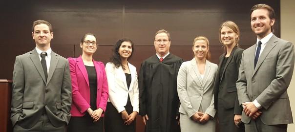 Judge Klein with 2015 Interns
