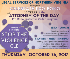 Attorney of the Day Pro Bono CLE and 10 Year Anniversary